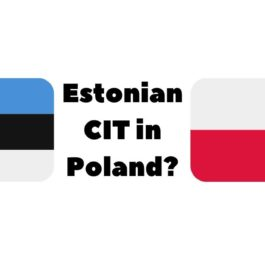 Estonian CIT in Poland
